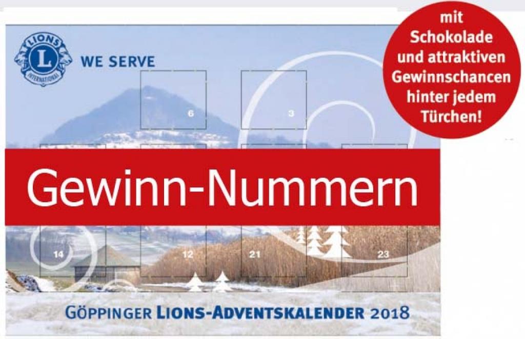 Gewinn Weihnachtskalender.Adventskalender 2018 Gewinne Lions Club Göppingen