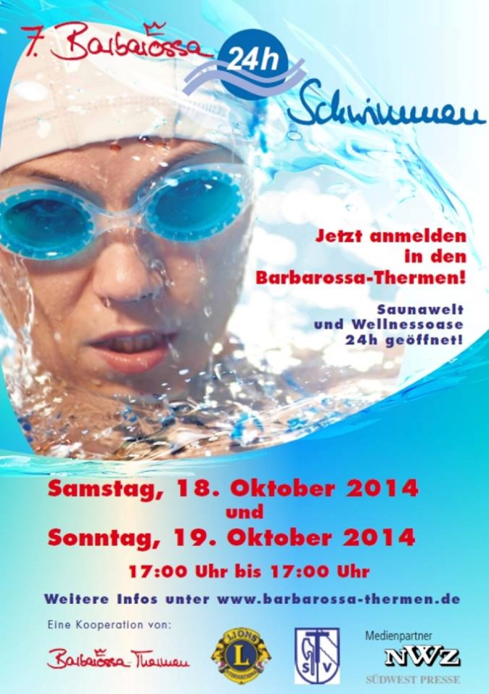 7. Barbarossa-24h-Schwimmen in den Barbarossa Thermen
